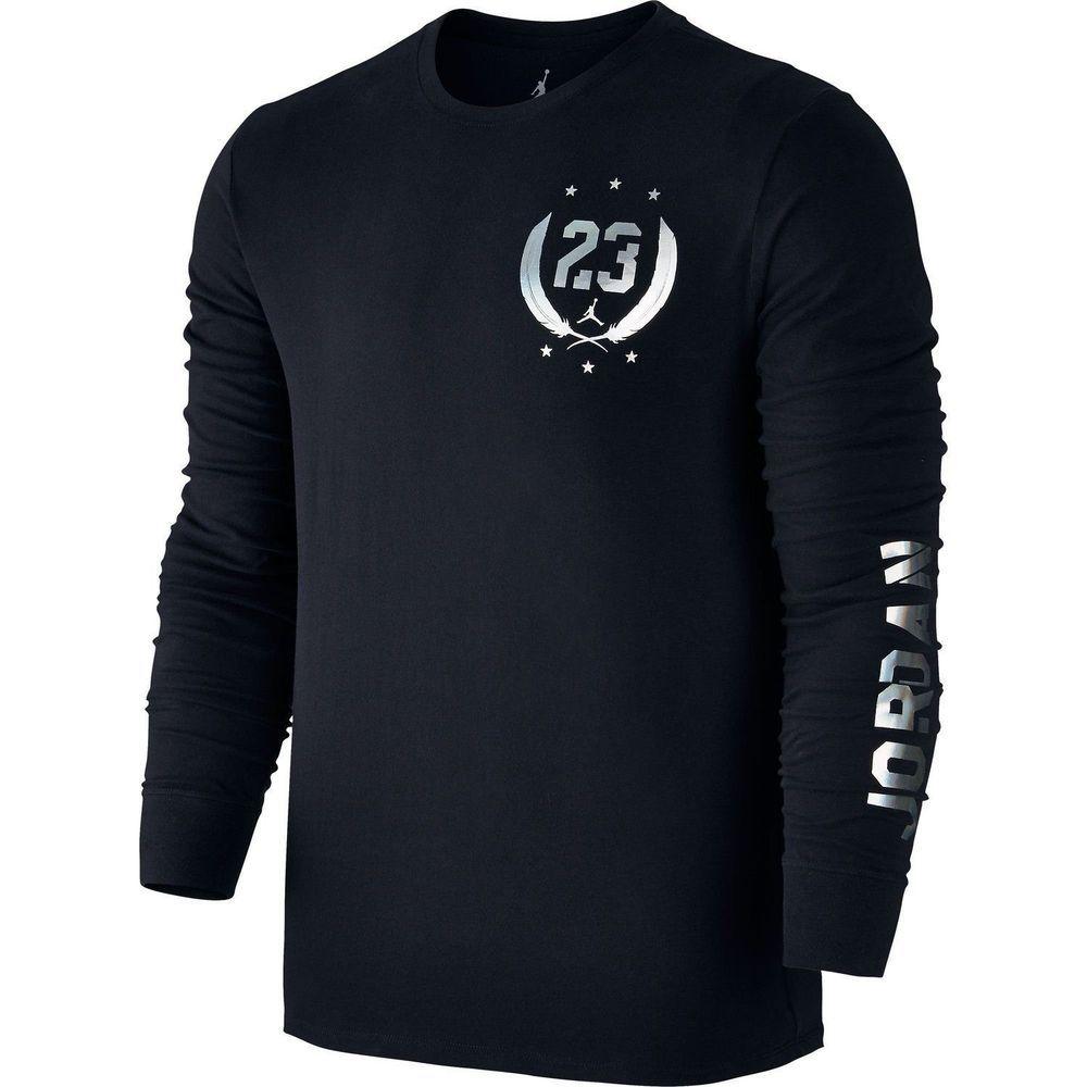 NEW NIKE Jordan Air Fold 'Em Long Sleeve Black T-Shirt Men's XL ...