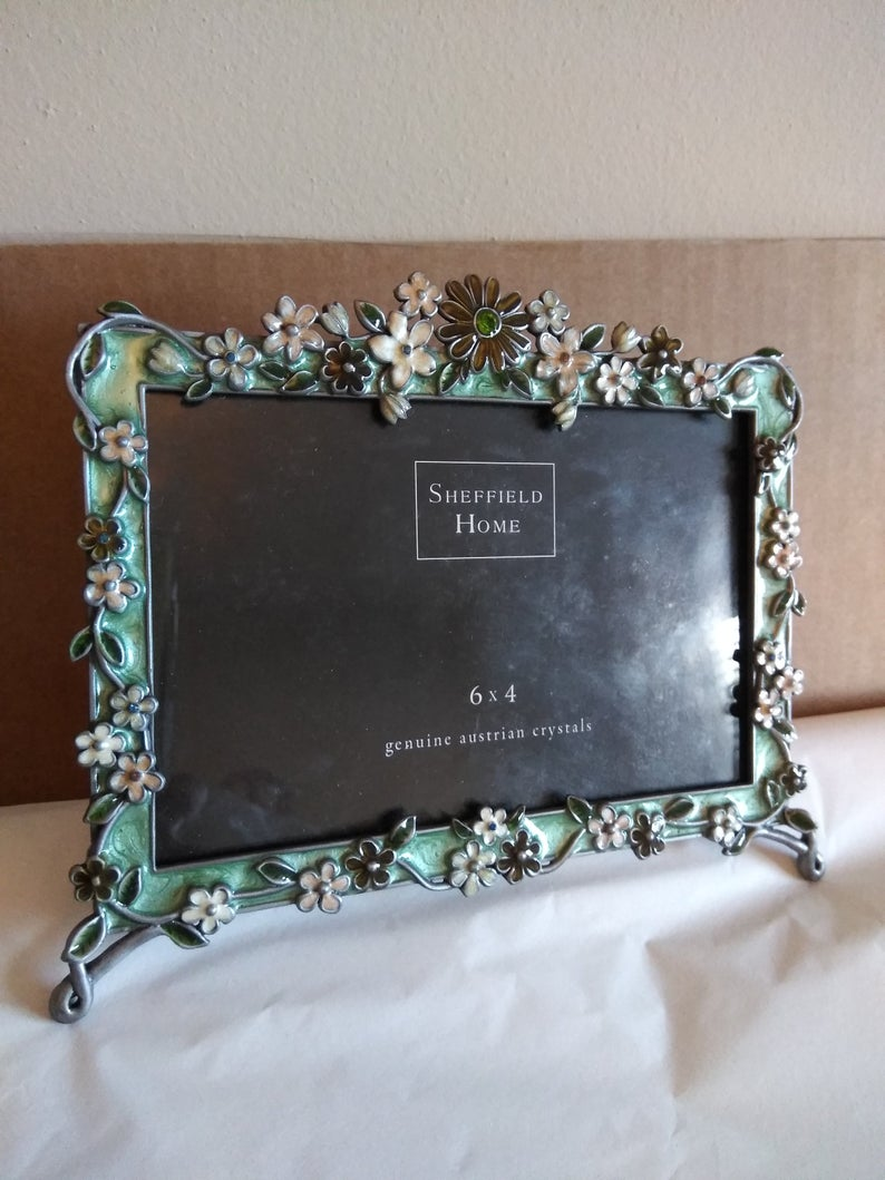 Sheffield Home Picture Frame With Austrian Crystals 6 Etsy In 2020 Home Pictures Sheffield Home Frame