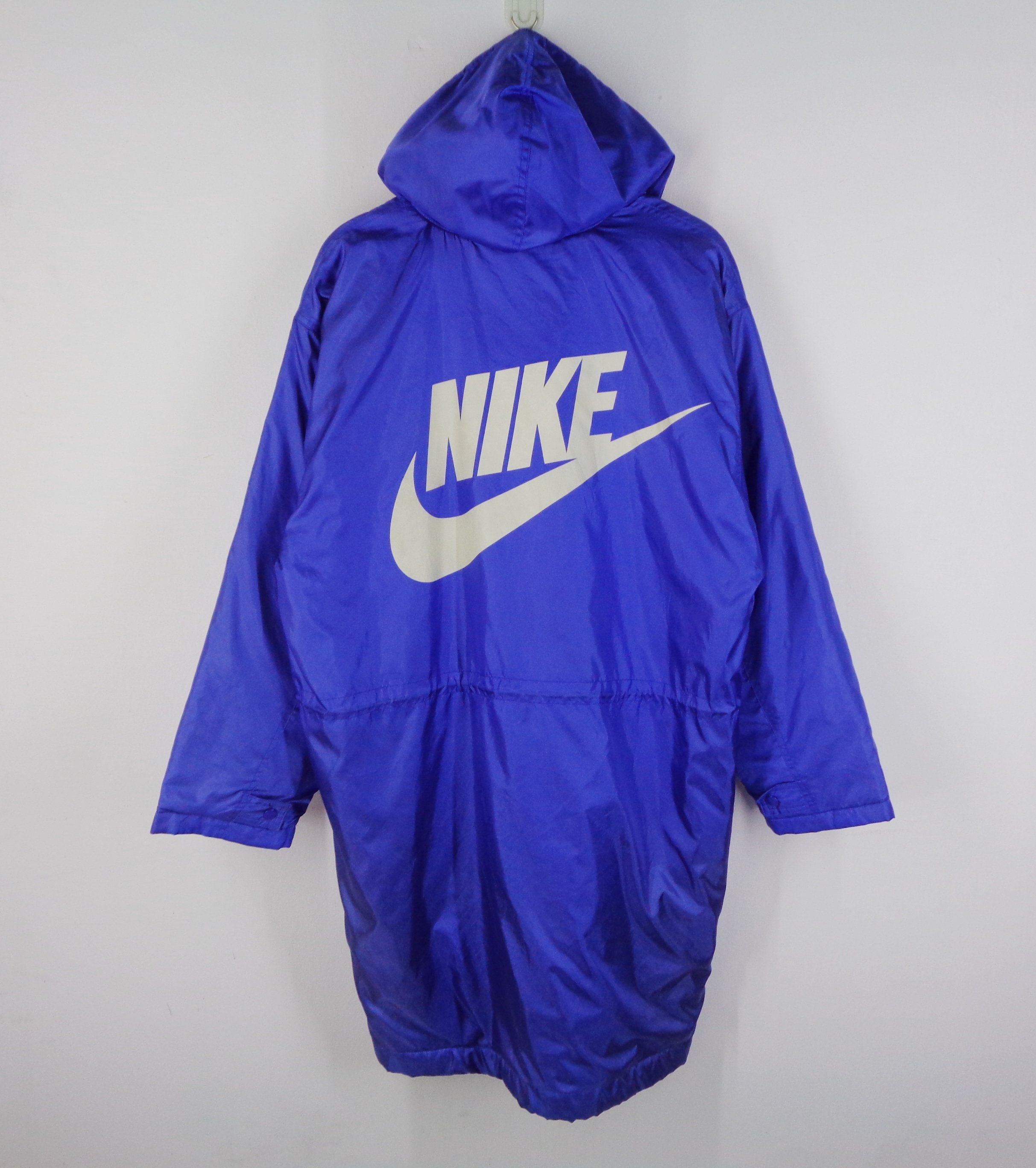 Nike Jacket Vintage Nike Windbreaker Vintage 90 S Nike Made In Japan Swoosh Big Logo Long Winter J Nike Windbreaker Vintage Nike Windbreaker Long Winter Jacket