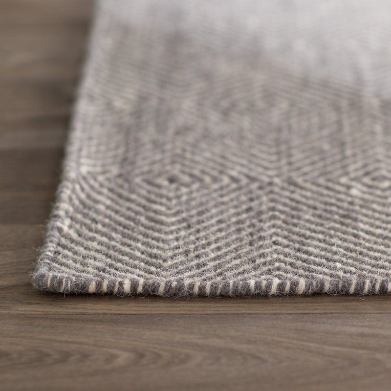 Marcelo Flat Woven Wool Cotton Gray Area Rug Rugs On