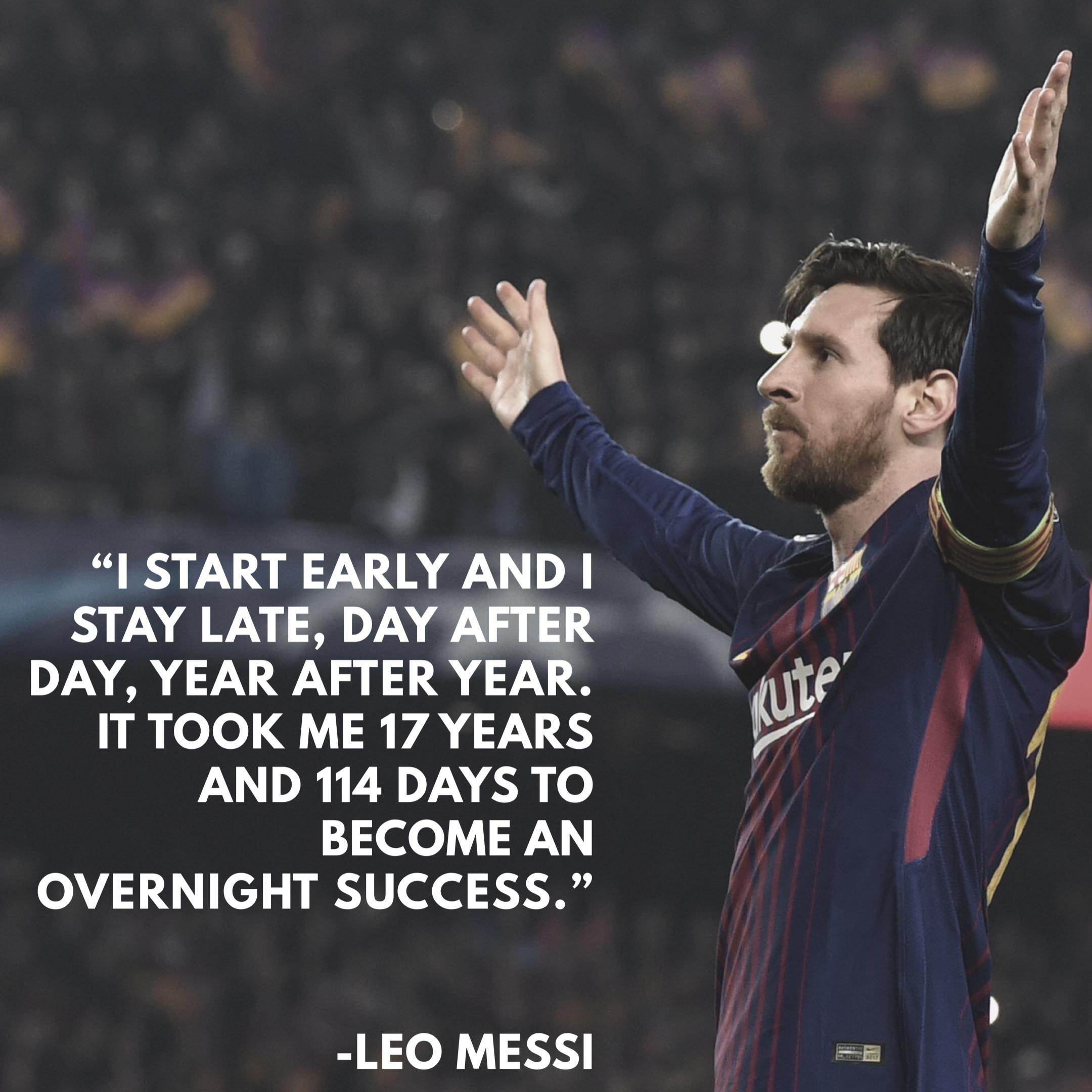 Leo Messi Quote in 2020 | Messi quotes, Lionel messi ...