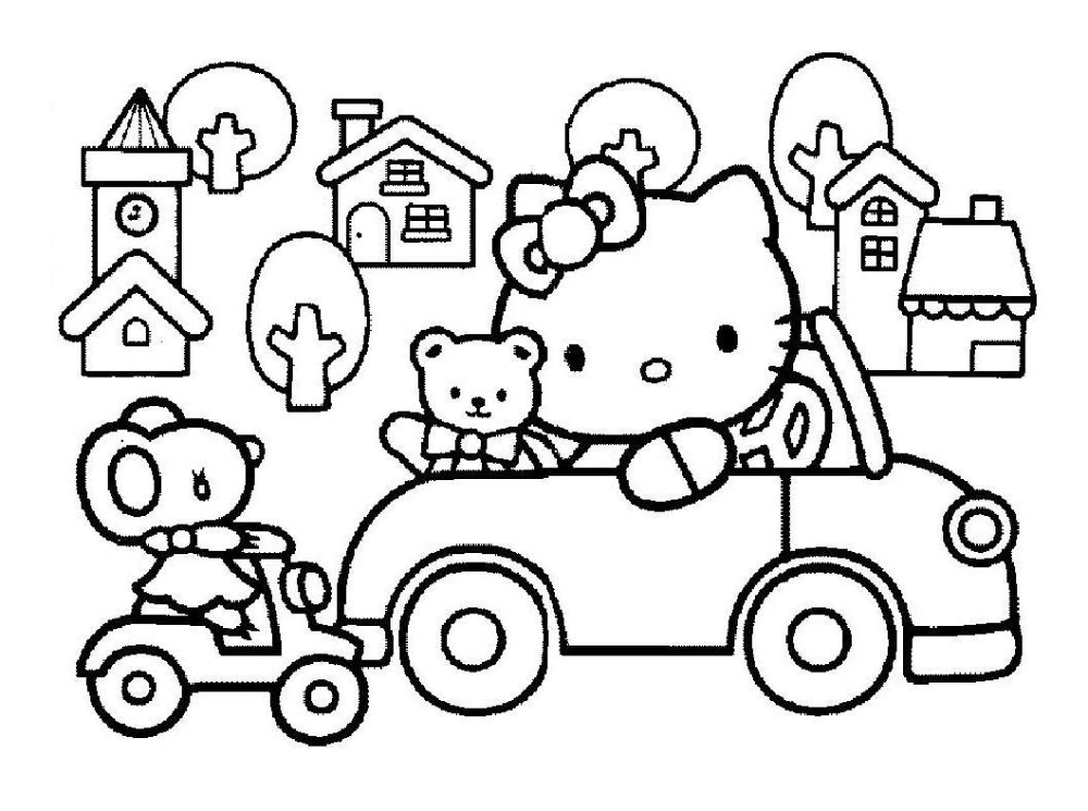 Awesome Hello Kitty Train Coloring Pages Overdesign Hello Kitty Coloring Hello Kitty Colouring Pages Kitty Coloring