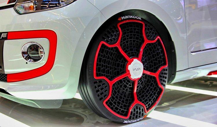 還在擔心輪胎爆胎嗎 Hankook Iflex 免充氣輪胎技術展現全新車用科技 國王車訊 Kingautos Wheel Car Wheel Steering Wheel