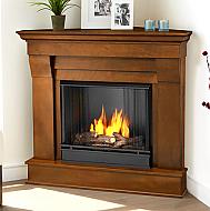 "40.94"" Chateau Espresso Corner Gel Fireplace"