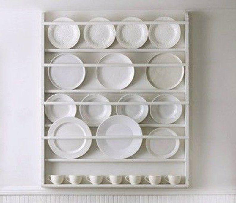 Plate Rack Plate Holder Wall Mounted Plate Shelf #plateracks