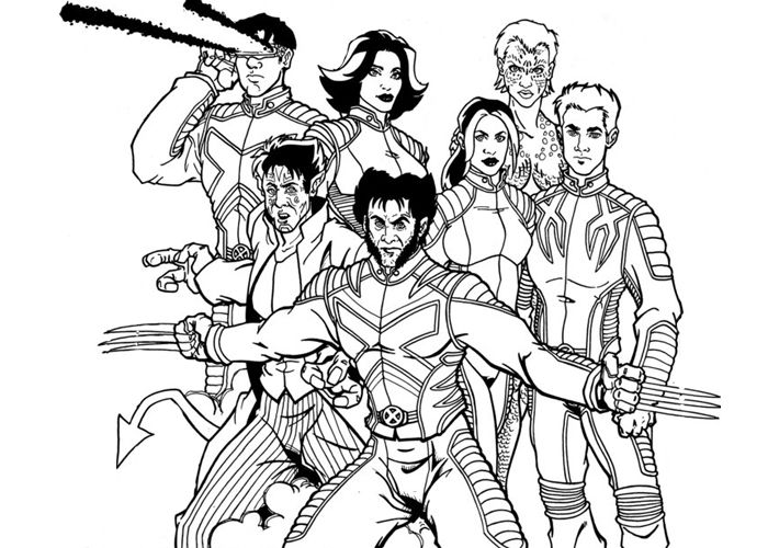 X Men Coloring Pages | Men Evolution Colouring Pages