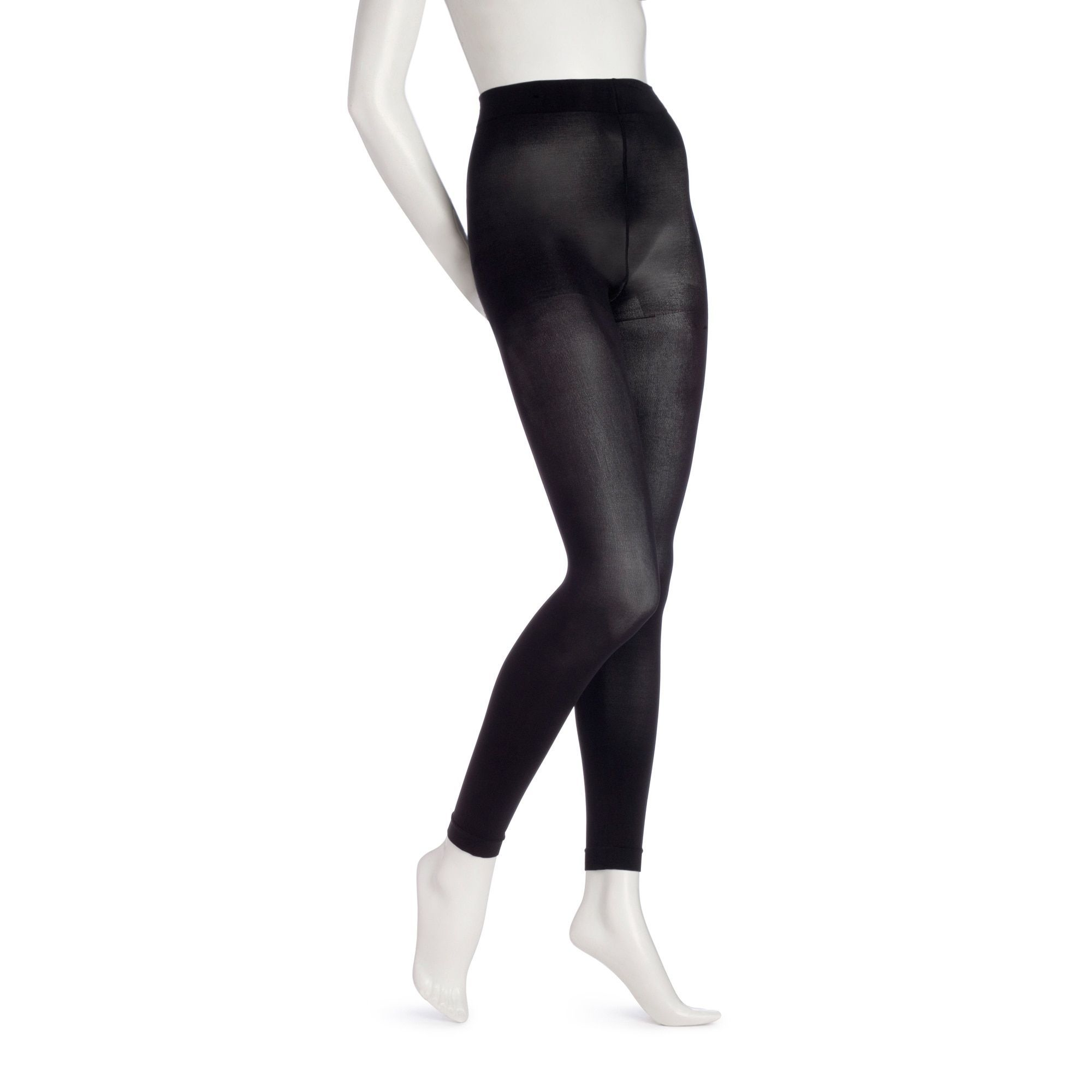 spandex tights opaque footless Striped