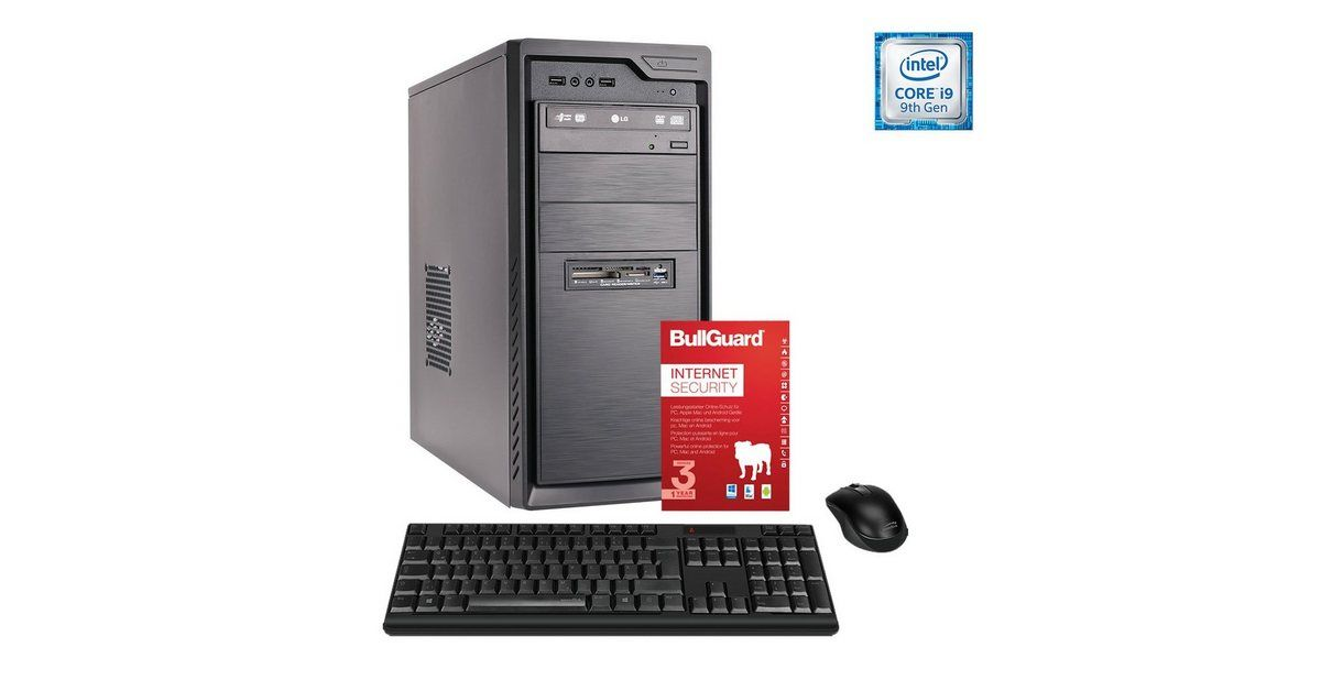 PC, Core i9-9900K, GeForce GTX 1650 SUPER, 32GB »Office PC 130501«