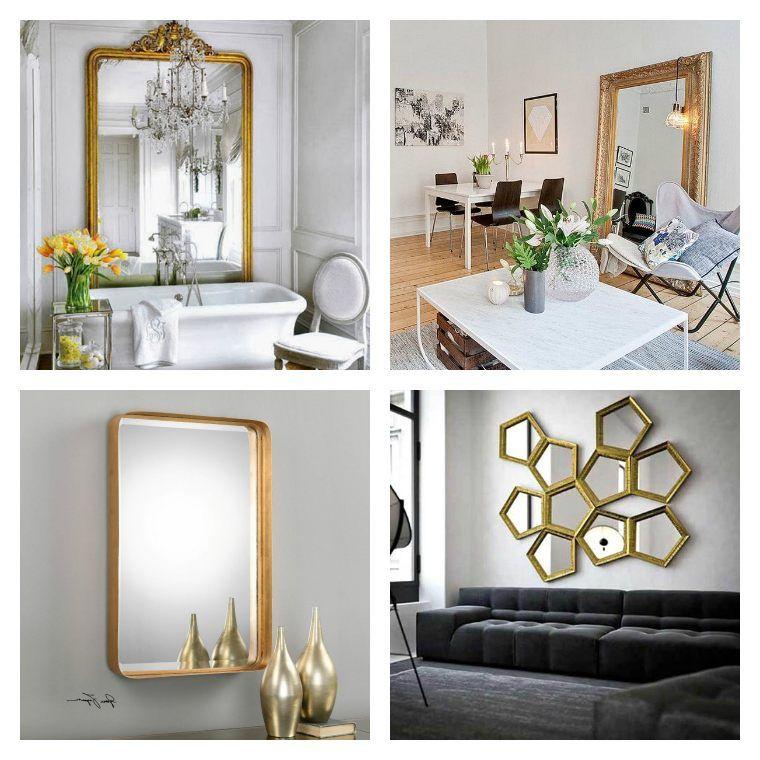 Grand miroir doré  idées pour une décoration intérieur réussie