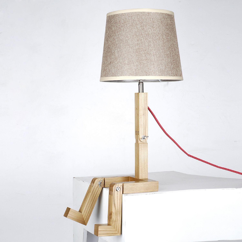 Lampe Sit Bois De Hetre Lamparas De Velador Objetos De Iluminacion Restauracion De Muebles