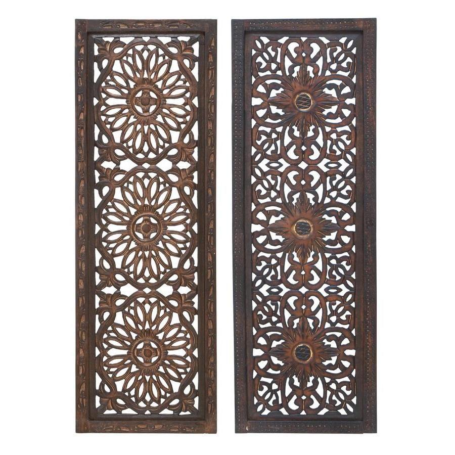 36 Benzara Metal Wood Wall Panel