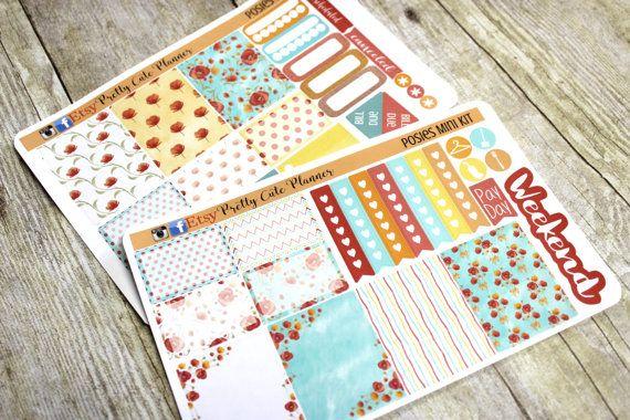 Happy Planner Stickers  Weekly Planner by PrettyCutePlanner