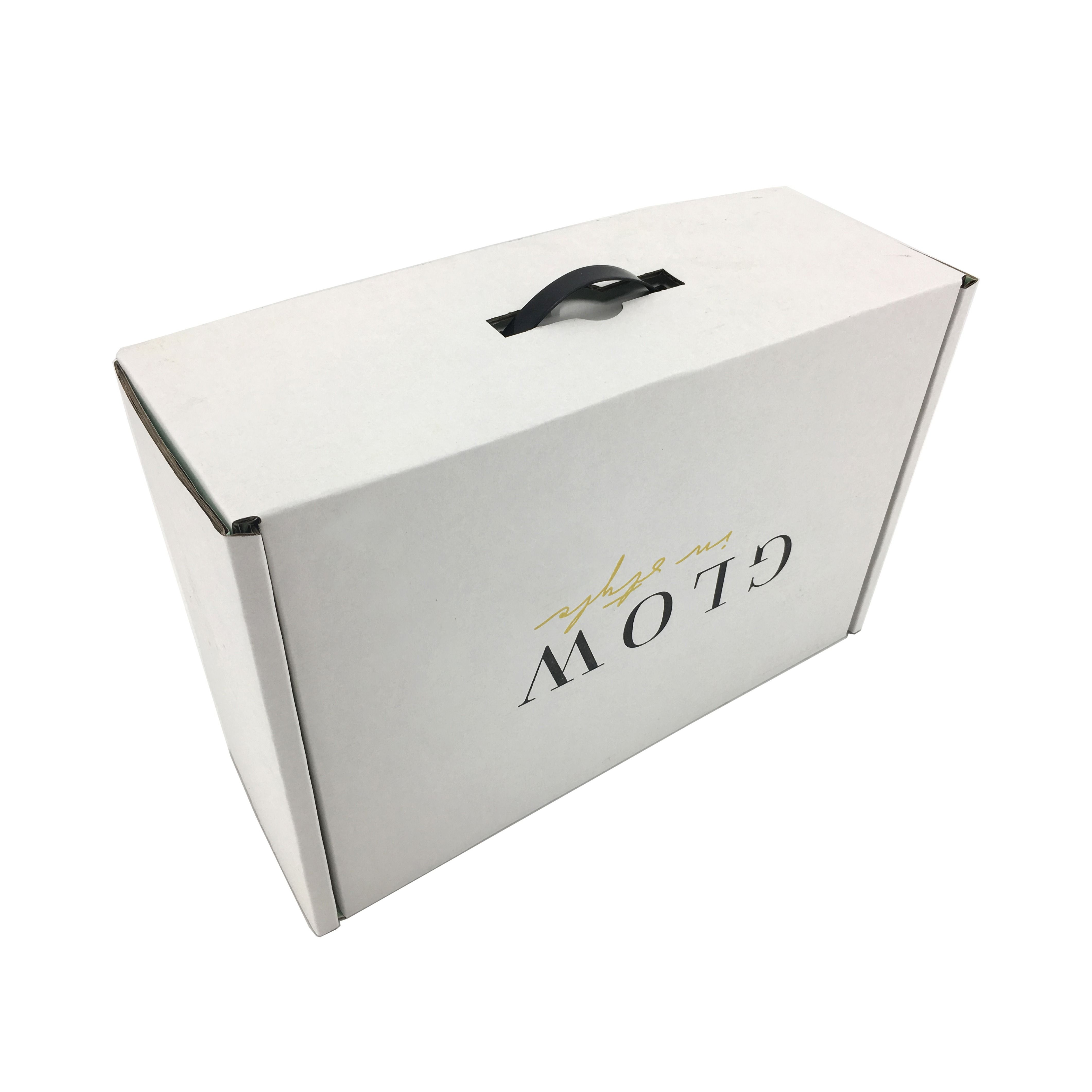 Custom Apparel Packaging Boxes With Plastic Handle Custom Printed Boxes Custom Boxes Paper Box Template