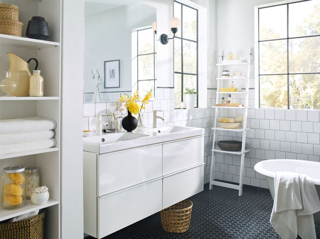 godmorgon braviken ultrbrilliant blanc salle de bains meuble pour lababo 4 tiroirs salle de. Black Bedroom Furniture Sets. Home Design Ideas