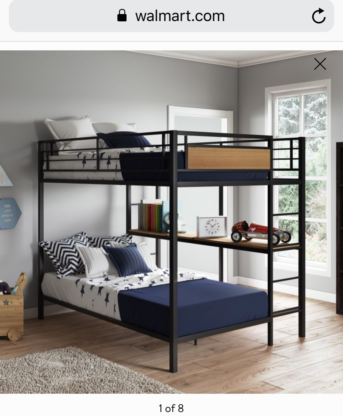 db74fdc117a36f9b0bc6707f1978d0ba - Better Homes & Gardens Sullivan Twin Over Twin Bunk Bed