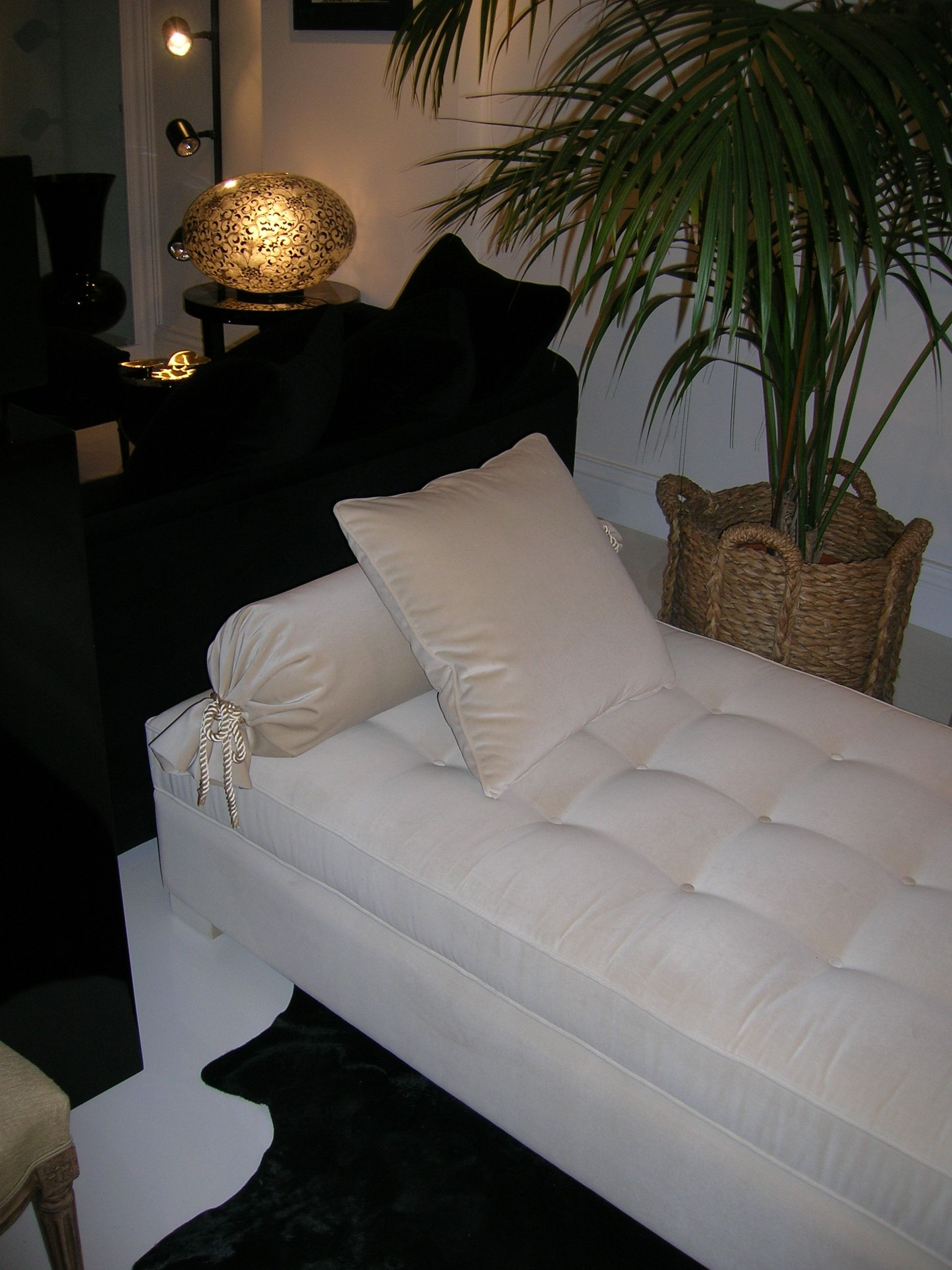 Velvet daybed and black velvet sofa home is where the cock is