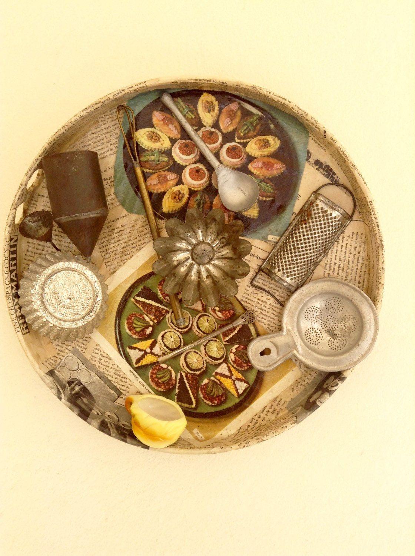 Farmhouse Kitchen Decor, Upcycled Kitchen Assemblage, Mixed Media ...