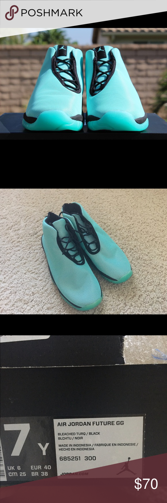 huge discount 975ef 45337 Air Jordan Futures Turquoise Selling my air Jordan Futures. Worn a few times,  there are a couple of minor stains (refer to the last picture).
