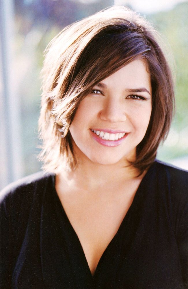 Haircut For Roundfull Face America Ferrera Hairstyles
