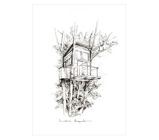 TREEHOUSE.  Reproducción digital firmada y seriada de #lauraagusti. Medidas:29,7 x 21 cm.(A4). 20€ #print #ilustration #ilustracion #dibujo #drawing #Art #Barcelona