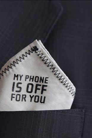 He apagado mi teléfono por ti
