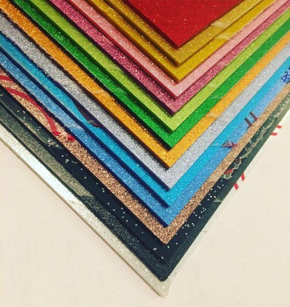 3mm Glitter Acrylic Sheet 300 X 200mm Acrylic Sheets Rainbow Sheets Glitter Acrylics