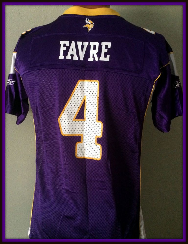c7ea82c8 VINTAGE BRETT FAVRE MINNESOTA VIKINGS REEBOK ON FIELD YOUTH XLARGE ...
