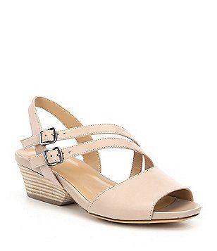 Gigi Dual Straps Block Heel Dress Sandals 7lmQz