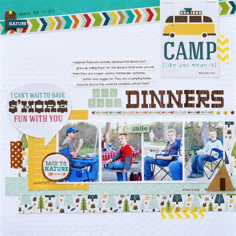 Tin Foil Dinners - Scrapbook.com Echo Park Happy Camper