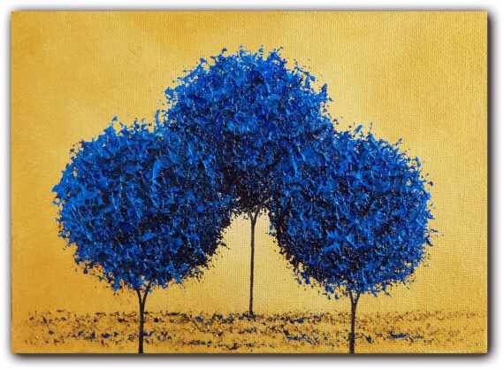 Blue tree abstracts
