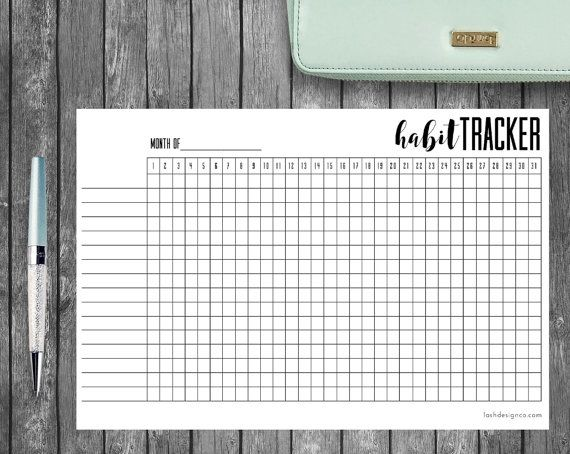 photograph about Bullet Journal Habit Tracker Printable titled Printable Practice Tracker, A5 Bullet Magazine or Planners