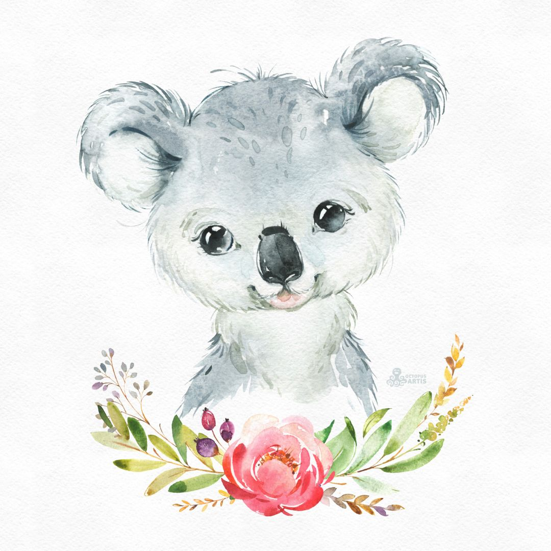 Mom And Baby Koala Original Watercolor Painting By Mydrops On Etsy