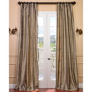 heritage landing 96inch faux silk lined curtain pair by heritage - 96 Inch Curtains