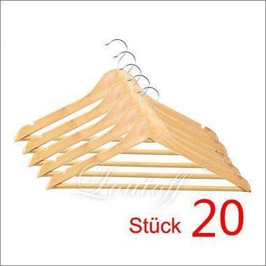 Garderobenbügel znl 20 stück kleiderbügel holz garderobenbügel holzbügel mit steg