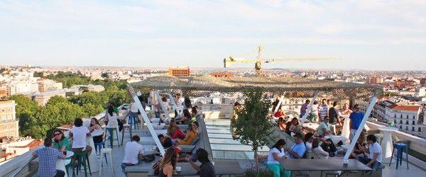 Tartan Roof El Bar Restaurante De La Azotea Del Cba Madrid Cool Blog Restaurantes Azoteas Madre