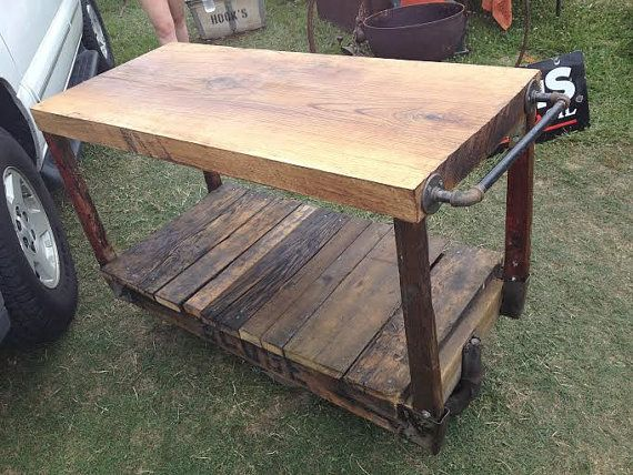 globe kitchen island steam punk railroad cart very industrial