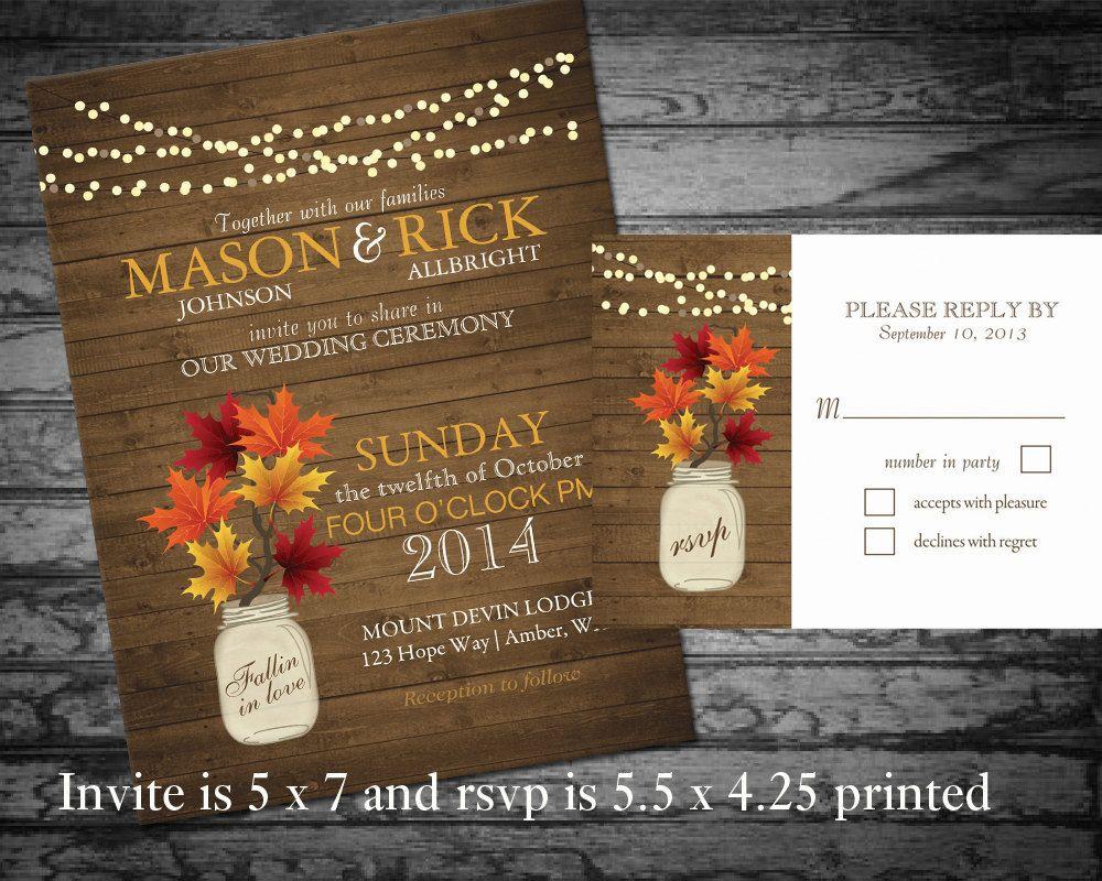 Diy fall wedding decor  DIY Fall Wedding printable Rustic Mason Jar by NotedOccasions