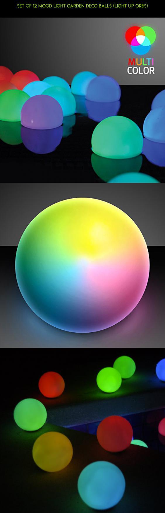 outdoor lighting balls. Set Of 12 Mood Light Garden Deco Balls (Light Up Orbs) #products # Outdoor Lighting