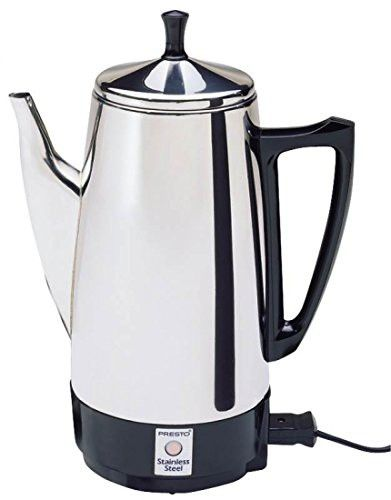 National Presto 4 12 Cup Electric Percolator 2811 Percolator Coffee Stainless Steel Coffee Maker Stainless Steel Coffee