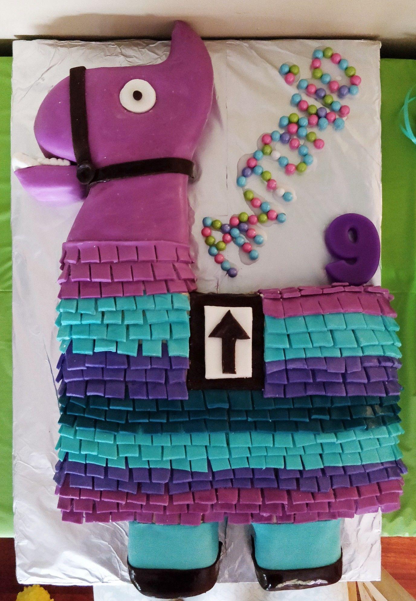 Fortnite Lootllama Cake Llamacake Fortnitecake Llama With