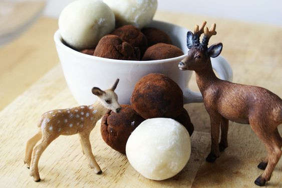 Marzipan covered truffles?