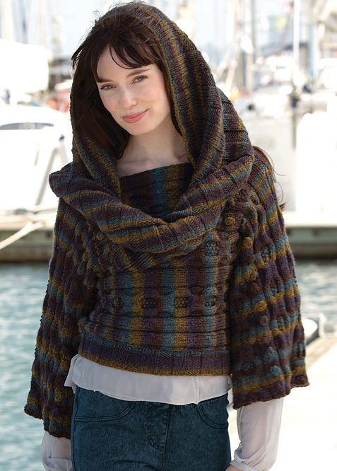 Free Knitting Pattern For Nadines Pullover And Hood Knit Sweaters