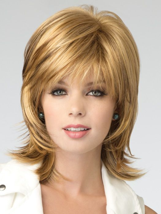 shag hair style bailey hybrant rooted colors synthetic wig by rene of 1188