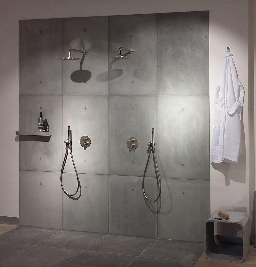 ConcreetDesign betonnen wandpanelen voor de douche #badkamer ...