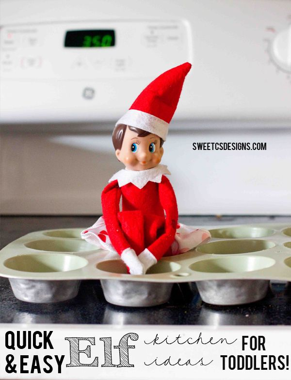 Quick and easy elf on a shelf ideas in the kitchen, perfect