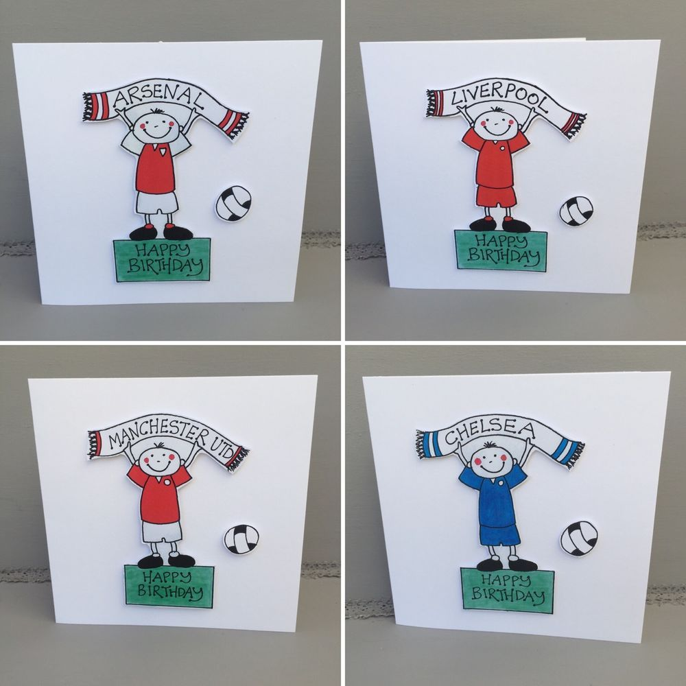 Football Greeting Cards Arsenal Man Utd Chelsea Liverpool