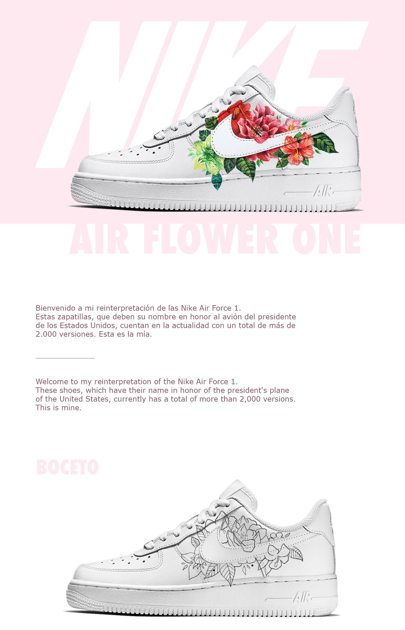 "90f31bd56bb6df Check out this  Behance project  ""Custom Nike Air Flower 1"" https"