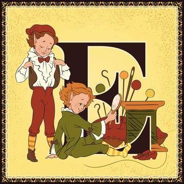 Print of Children book cartoon fairytale alphabet. Letter E. The ...