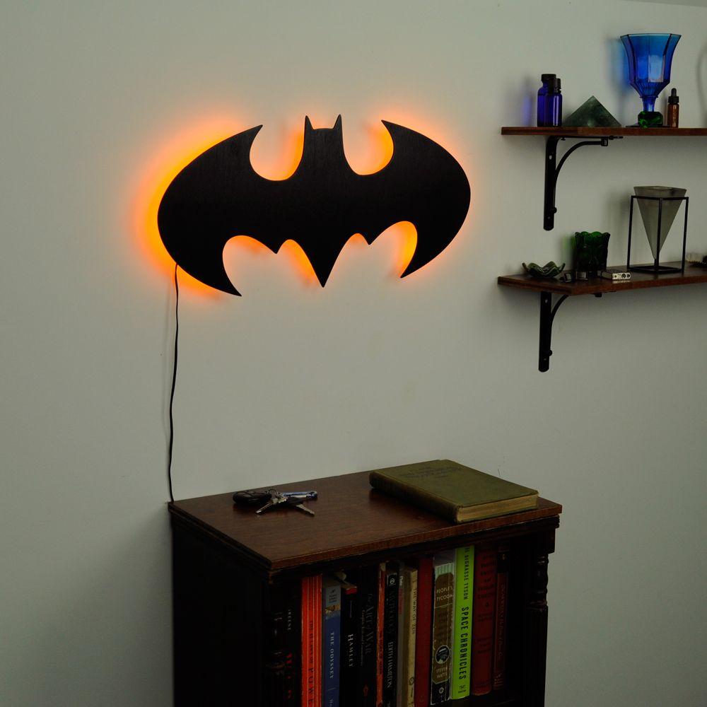 Lighted batman logo wall art toddler room ideas pinterest lighted batman logo wall art mozeypictures Images