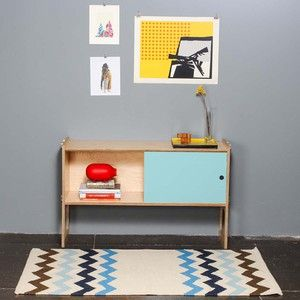 Teppich Zig Zag 152x90 Blau II, 110€, jetzt auf Fab.